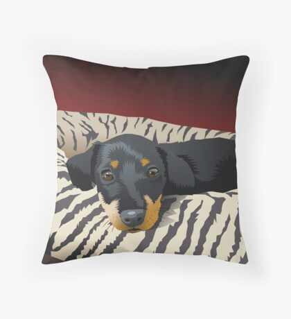 The hunter rests Throw Pillow
