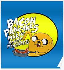 adventure time bacon pancakes Poster