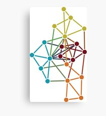 Modular network Canvas Print