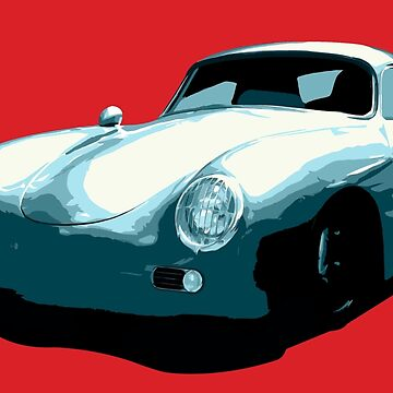 Porsche 356 pop art by neroli
