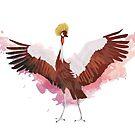 Crested Crane by Maxwbender