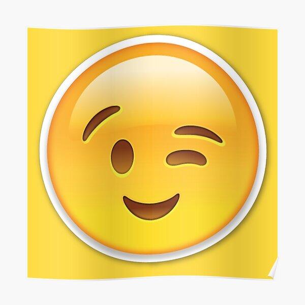 Guiño emoji Póster