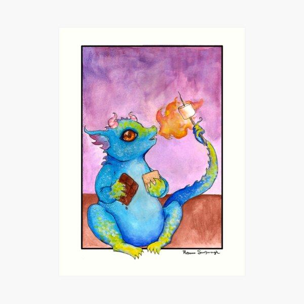 S'more Dragon Art Print