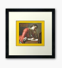 Sincerity is Everything Framed Print