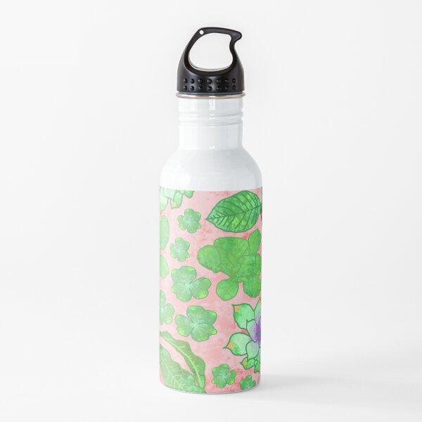 Watercolor Plants Water Bottle