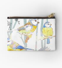 Bluetits in the forest Studio Pouch