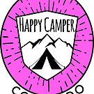 HAPPY CAMPER CAMPING COLORADO TENT MOUNTAINS OUTDOORS LOVE PINK by MyHandmadeSigns