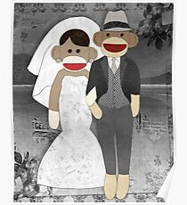 Sock Monkey Wedding Poster