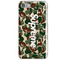 Supreme x A Bathing Ape Bape Camo iPhone Case/Skin