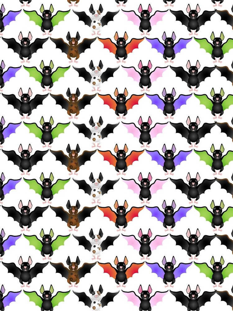 Cute Colorful Bats by pugmom4