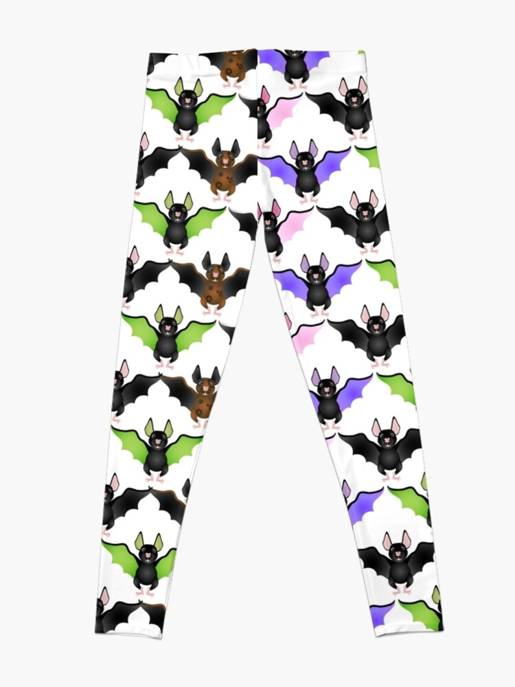 Alternate view of Cute Colorful Bats Leggings