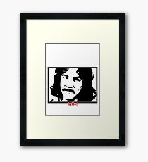 Hello (in red) My Name Is Framed Print