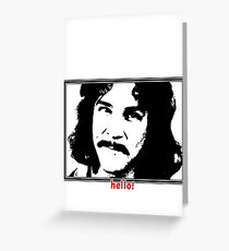 Hello (in red) My Name Is Greeting Card