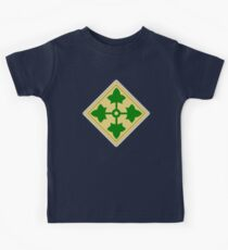 US, ARMY, Military, 4th Infantry, Division, Soldier, shoulder insignia, American, America, USA,  Kids Tee