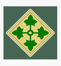 US, ARMY, 4th Infantry, Division, Soldier, shoulder insignia, American, America, USA,  Photographic Print