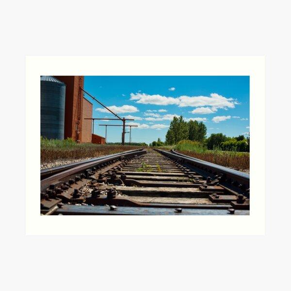 Train Tracks in Wakaw SK Art Print
