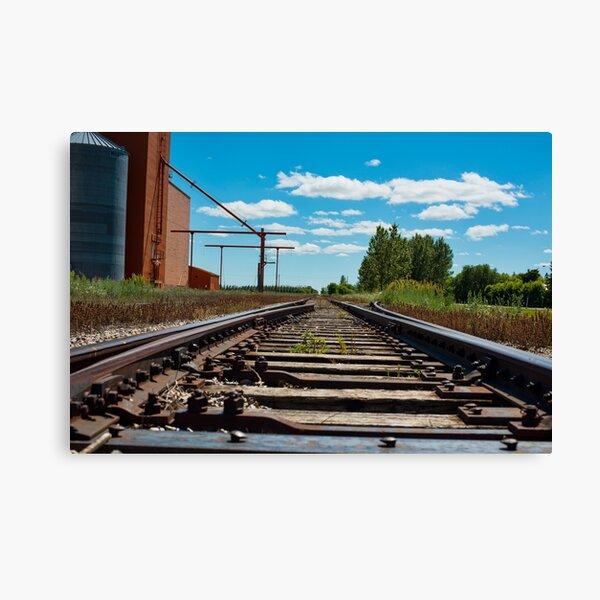 Train Tracks in Wakaw SK Canvas Print
