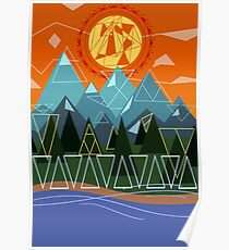nature & triangles Poster