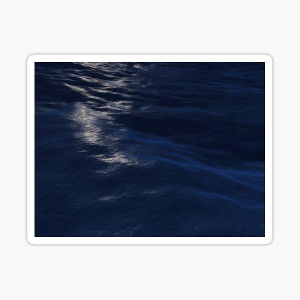 Moonlit Ocean Waves Sticker