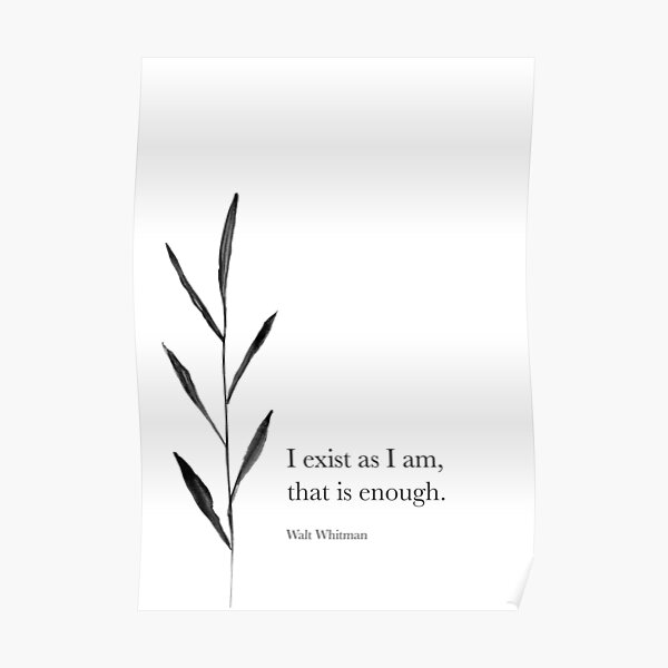 I exist as I am Poster