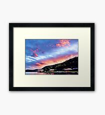 Sky Fire Sunset. Photo Art, Prints, Gifts, and Apparel. Framed Print