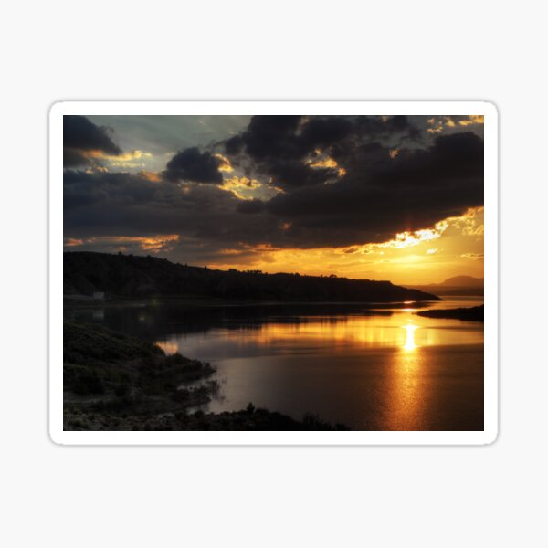 Sunset on the Negratin Sticker
