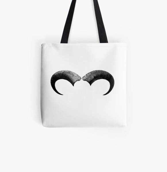 Horns All Over Print Tote Bag