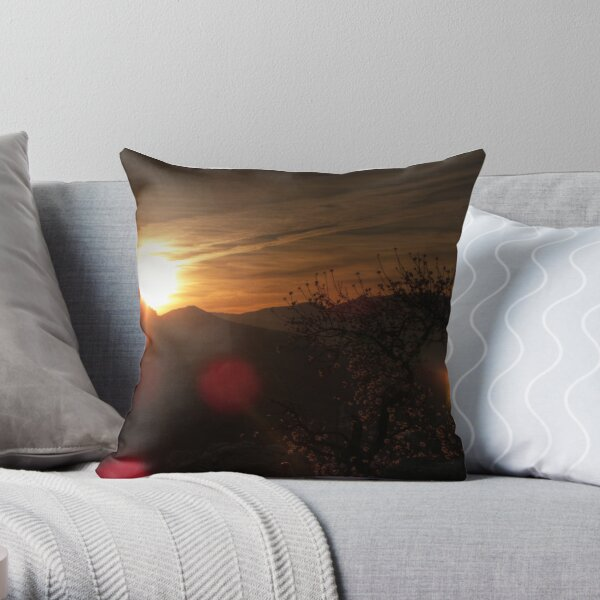 The last almond tree Throw Pillow