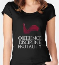 Obedience Discipline Brutality Women's Fitted Scoop T-Shirt