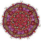 Red, Brown, Purple and Orange Mandala by WelshPixie