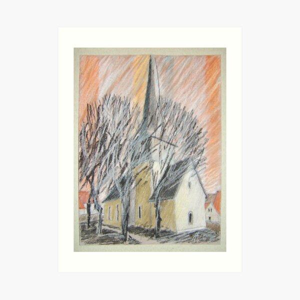 Feininger - Kirche Art Print