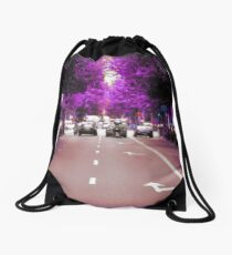 With the glass with which you look Drawstring Bag
