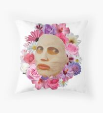 Alyssa Edwards Beauty Mask With Flowers - Rupaul's Drag Race All Stars 2  Throw Pillow