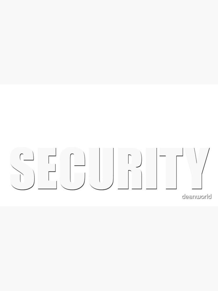 Security Baseball Cap by deanworld