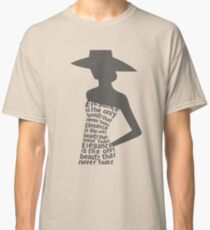 Silhouette woman in dress Classic T-Shirt