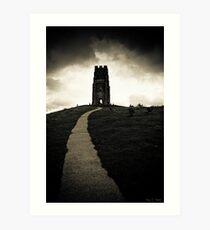 Dark Tor - Gothic Glastonbury Art Print
