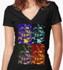 Eclectic Women's Fitted V-Neck T-Shirt