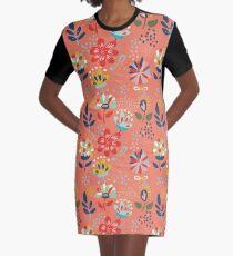 Wild Flowers Graphic T-Shirt Dress