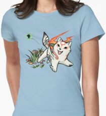 Small Okami Women's Fitted T-Shirt