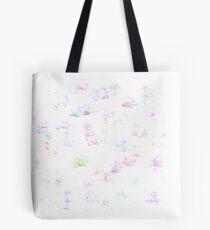 Tiny Pastel Rainbow Colored Paws Tote Bag