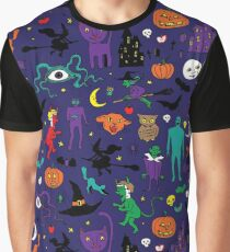 Retro Halloween Graphic T-Shirt
