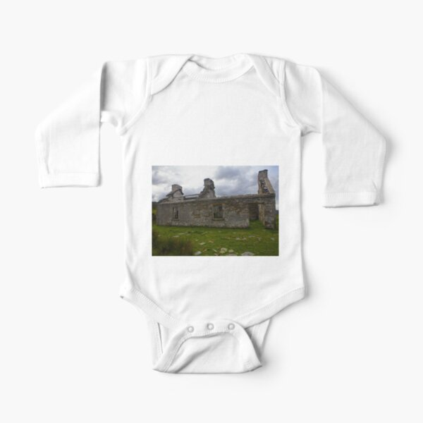 Ruined Cottage at Cashelnagor, County Donegal, Ireland Long Sleeve Baby One-Piece