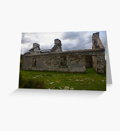 Ruined Cottage at Cashelnagor, County Donegal, Ireland Greeting Card