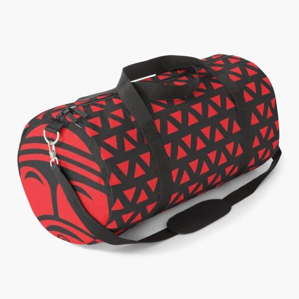 Tribal Print Duffel, red on black  Duffle Bag