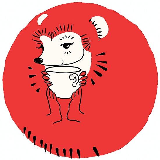 Tea Time for Hedgehog by NightBloomer