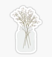 Baby's Breath in a Mason Jar Sticker