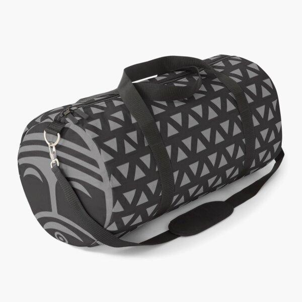 Tribal Print Duffel, black and gray Duffle Bag