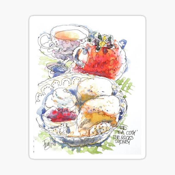 Tea and Scones Sticker