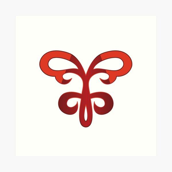 Hisame Artwork logo merchandise  Art Print