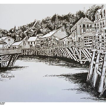 Creek Street, Ketchikan, Alaska by ROB51